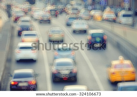 day road city motion blur