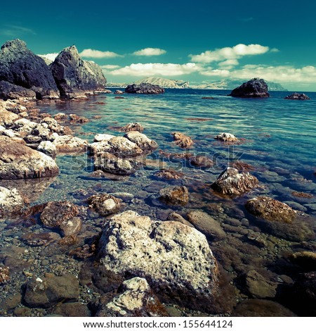 Day time on the sea, natural landscape for your design - stock photo
