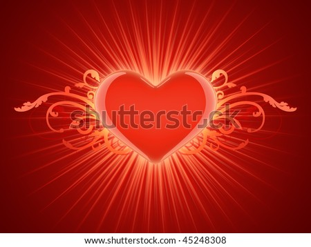 Day Valentine card with heart