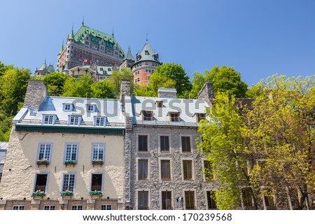 Daylight view of Quebec, Canada - stock photo