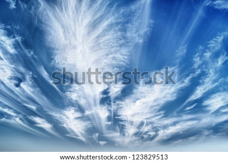 Daytime sky cirrus stratus clouds hdr stock photo royalty free daytime sky with cirrus and stratus clouds hdr wide angle contrast daytime nature background thecheapjerseys Gallery