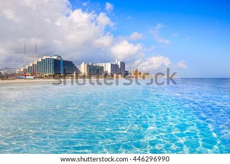 Daytona Beach in Florida coastline of USA - stock photo