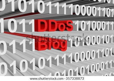ddos blog in the form of binary code