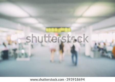 De-focus background terminal airport - stock photo
