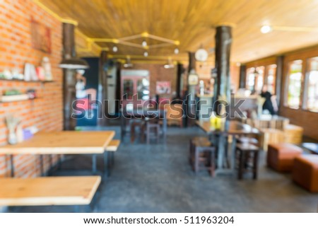 De focus image of Coffee Shop or Cafeteria for Background