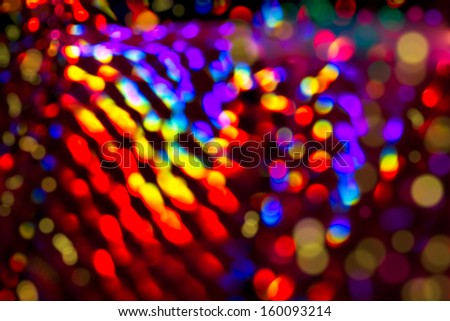 De focus light in the Christmas holidays  - stock photo