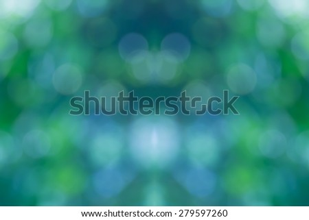 De focused abstract, Blurred lights bokeh abstract green background - stock photo
