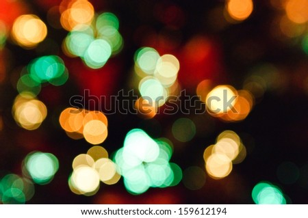 De-focused abstract christmas background, out of focus light spots forming a soft background - stock photo