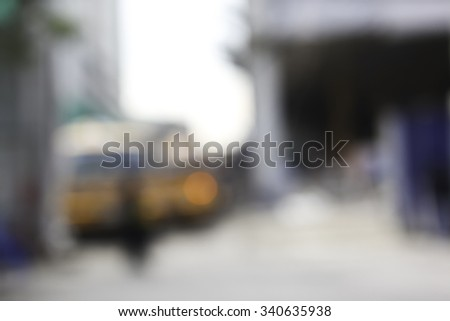 De-focused Abstract Construction Site for Blurred Background - stock photo