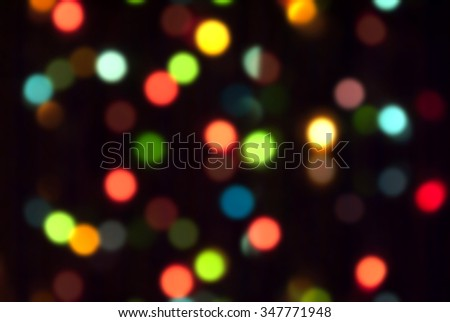 De  focused blurred Christmas lights