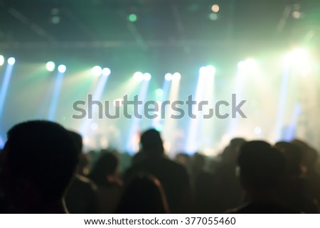 De-focused blurry music band crowds  - stock photo