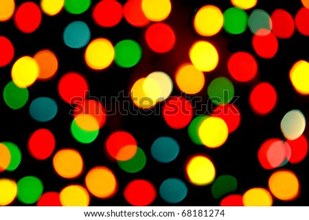 De-focused christmas lights as background