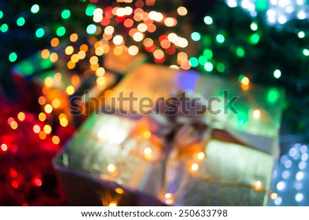 De-focused color background. Blurring the image of colorful present - stock photo