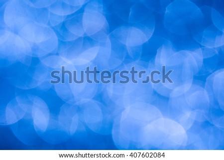 De-focused giant light blue haze lights - abstract blue background - stock photo