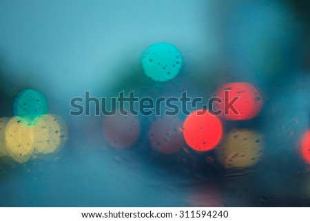 De focused of focus traffic and lights - stock photo