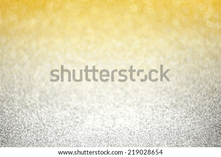 De-focused spiral gold and silver light - stock photo