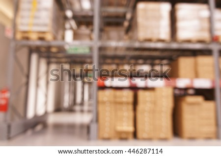 De focused warehouse with multi-layer shelves