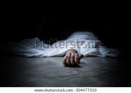 dead body - stock photo