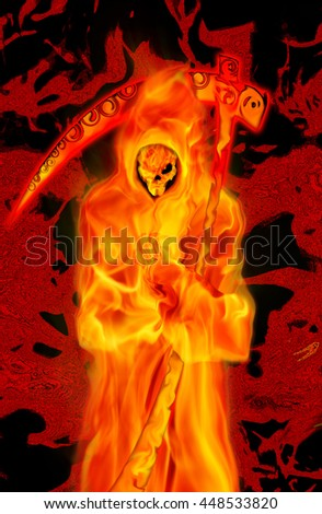 dead Halloween character - stock photo