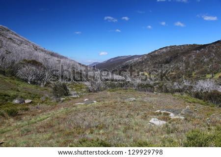 Dead Horse Gap in Kosciuszko National Park, Australia - stock photo