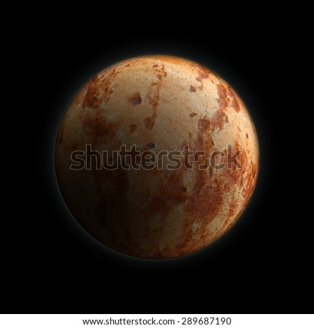 Dead Planet Earth without water,red stone texture concept earth - stock photo