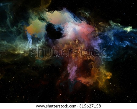 Dreams Space Series Abstract Design Made Stock Illustration ...