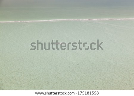 Dead Sea beautiful landscape as texture or as the background - stock photo