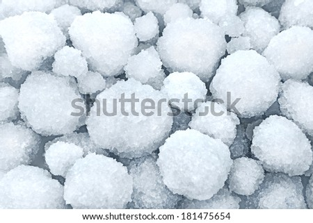 Dead Sea salt natural mineral formation at the Dead Sea - stock photo