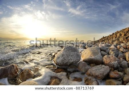 Dead Sea Sun Rise - stock photo