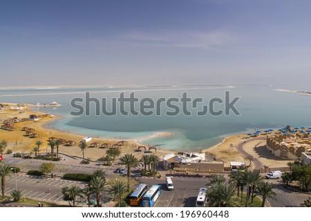 Dead sea view - stock photo