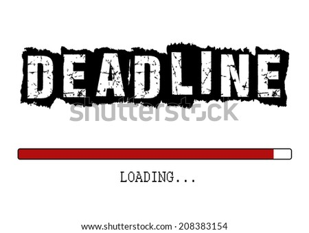 Deadline screen with loading bar