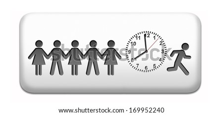 deadline, working time pressure punctual schedule and urgent timing hurry work against clock countdown late appointment countdown for event - stock photo