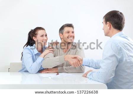 deal at home - stock photo