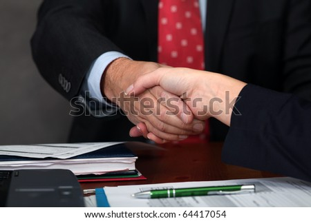 Deal. Handshake - stock photo