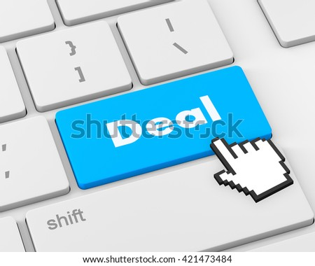 Deal Key On Keyboard Meaning Great Offers Or Offer, 3d rendering