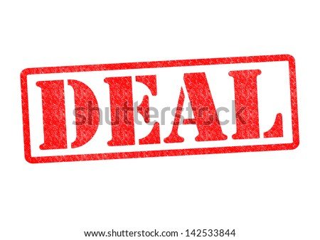 DEAL Rubber Stamp over a white background.