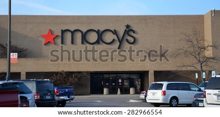 DEARBORN, MI - DECEMBER 21:  Macy's, whose Fairlane Mall store is shown on December 21, 2014, has more than 700 stores - stock photo