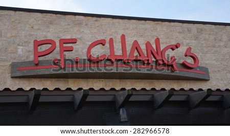 DEARBORN, MI - DECEMBER 21: P.F. Chang'??s, whose Fairlane Mall store logo is shown on December 21, 2014, has over 250 restaurants worldwide.