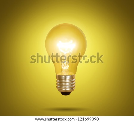 deas, energy saving light bulb - stock photo