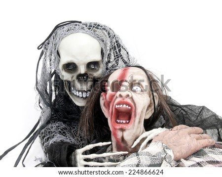 death and zombie - stock photo