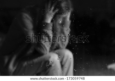 death of an unborn child - stock photo