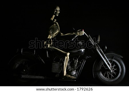 Death rides a chopper - stock photo