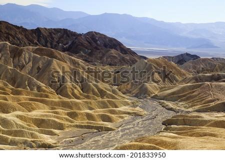 Death Valley National Park - Zabriskie Point - stock photo