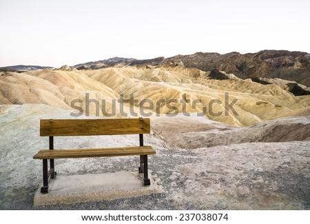 Death Valley National Park, Zabriskie Point - stock photo