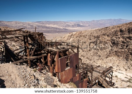 Death valley old gold mine - stock photo