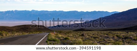 Death Valley panorama at dawn - stock photo