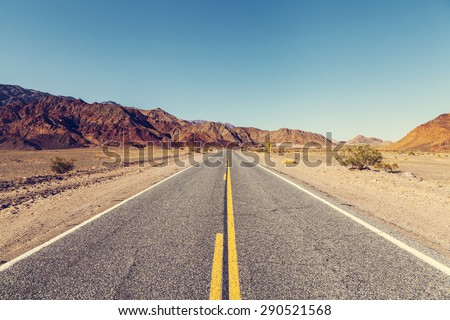 Death Valley Road - stock photo