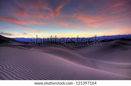 Death Valley Sunset - stock photo