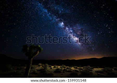 Death valley under the milky way - stock photo