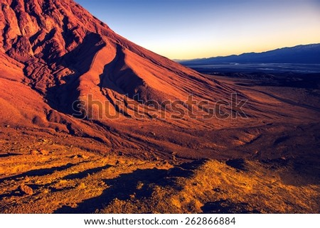 Death Valley Vista. California, United States. Sunset in Death Valley National Park. - stock photo